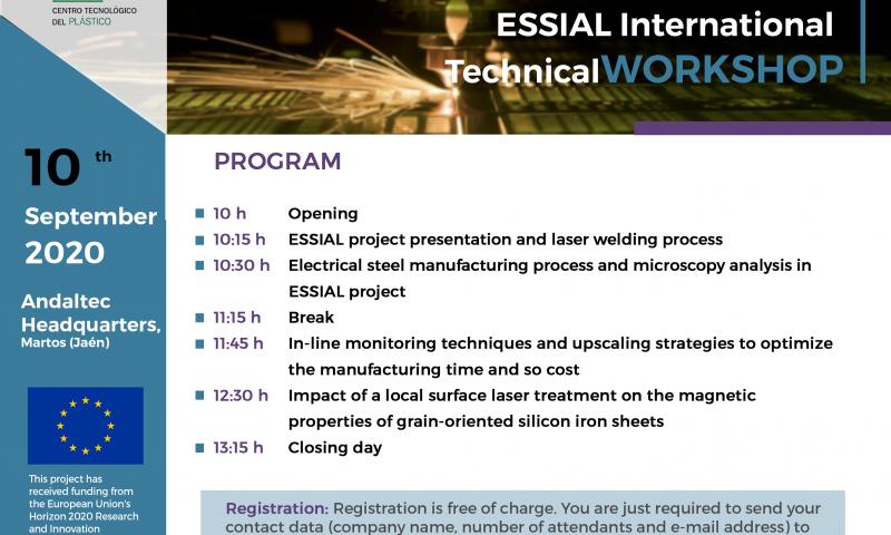 Programme - ESSIAL Technical Workshop - Andaltec